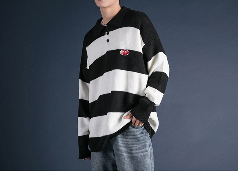 Korean Turtleneck Sweater Men Pullover Streetwear (24)
