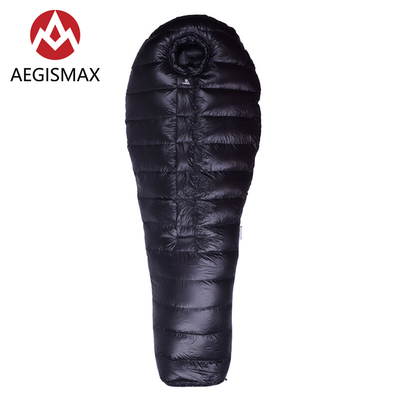 Aegismax B Series Ultralight Hiking Camping Mummy 90% White Duck Down Sleeping Bag Winter Extreme Cold Weather 650FP aegismax ultralight thicken mummy sleeping bag white duck down sleeping bag winter portable outdoor camping hiking d3 d4 d5