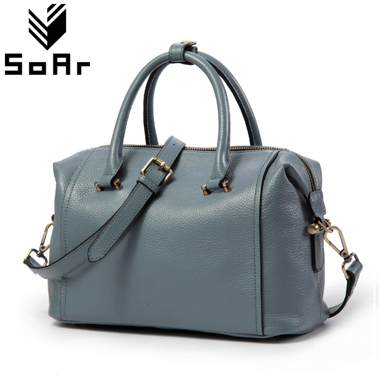 SoAr Women'S Handbags Genuine Leather Female New Fashion Women Messenger Bags Ladies Totes Hot Sale Shoulder Bags Famous Brands new arrival handmade famous picture pattern women genuine leather handbags female shoulder bags woman totes
