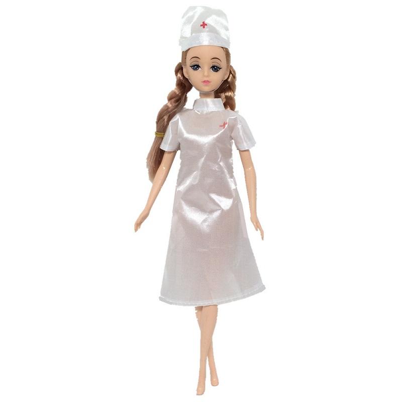 7pcs Doctor Nurse Clothes Dress Suit Set Top T-shirt Coat for 18inch Girls Dolls