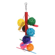 Colorful Pet Parrot Toy Bird Bell Ball For Parakeet Cockatiel Chew Fun Cage Toys(China)