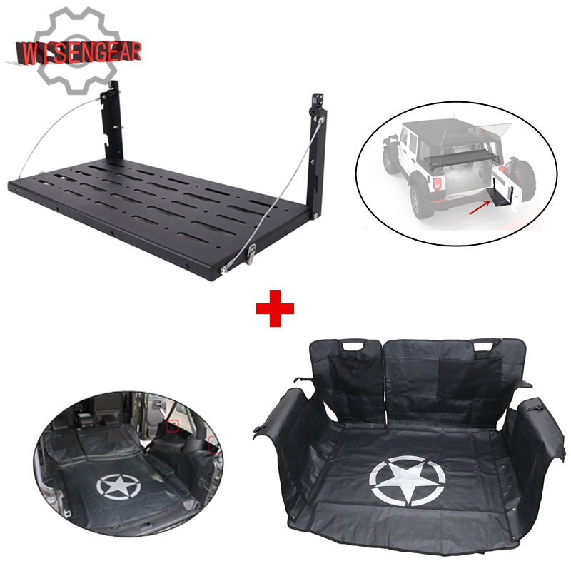 Rear Door Table Tail Gate Rack Cargo Carrier Shelf & Rear Trunk Storage Mat Cargo Cover  ...