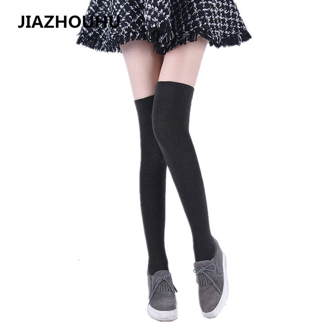 76beb410d 2017 Wool Cashmere Women s Knee Socks Winter Thick Warm Thigh High Socks 3  Colors Thick High Quality Female Long Sexy Soft Socks