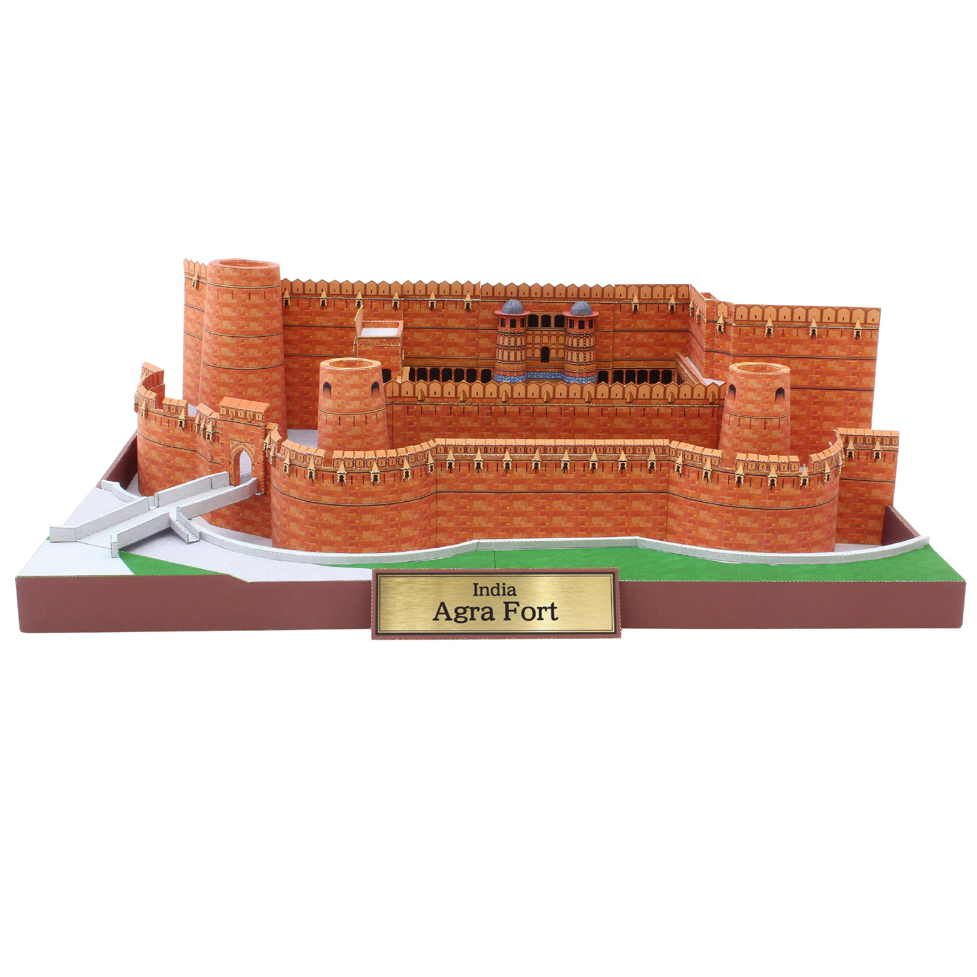 Agra Fort, India Craft Paper Model Architecture 3D  DIY Education Toys Handmade Adult Puzzle Game
