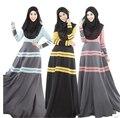 2016 manga larga de moda Maxi delgado informal vestimenta musulmana Abaya jilbab islámica ropa para mujeres Abaya