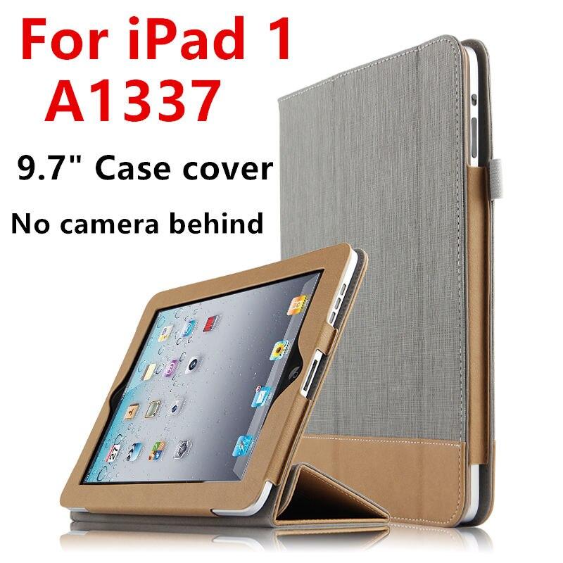 Cas Pour iPad 1 une Première génération De Protection Smart Cover en cuir PU Tablet Pour iPad1 A1337 A1219 Manches Protecteur Aucun caméra