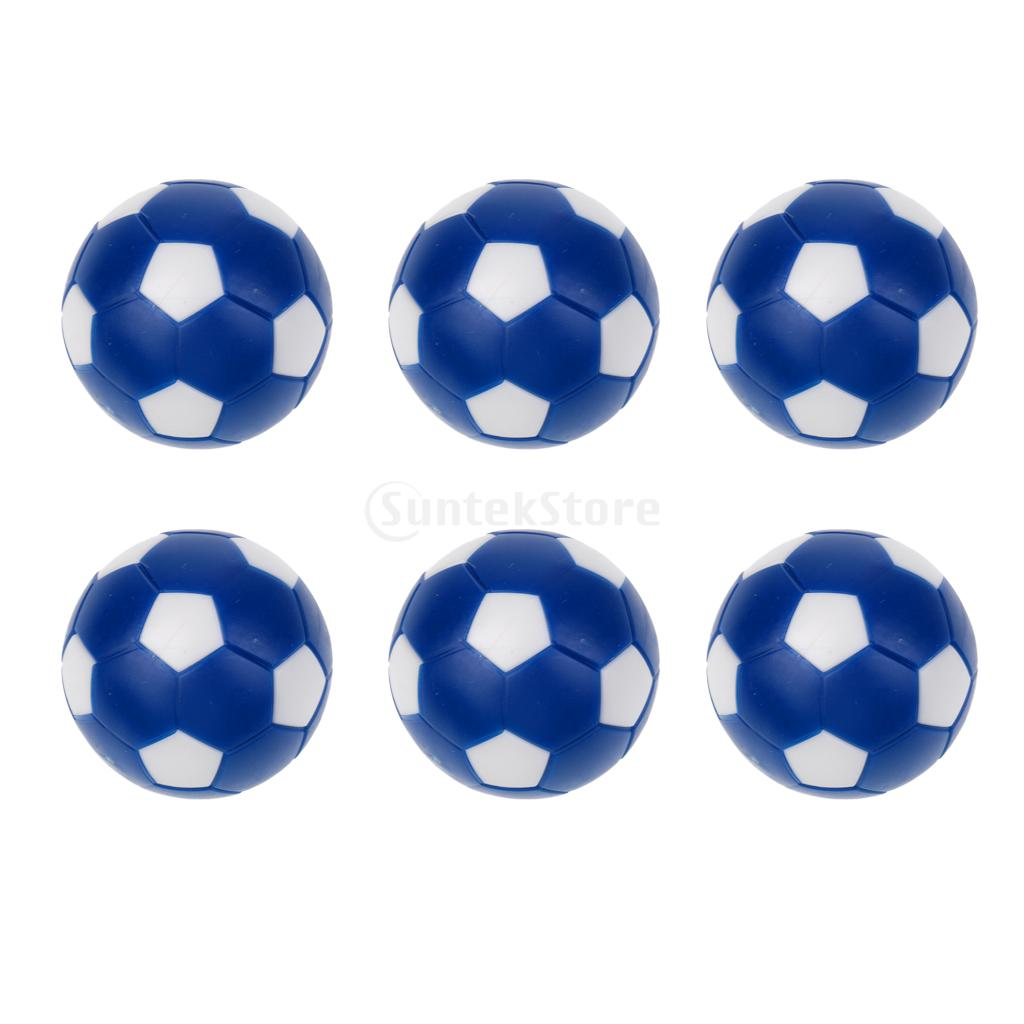 6 Pack 36mm Blue And White Table Soccer Foosballs Mini Soccer Balls Replacement Balls For Tabletop Game