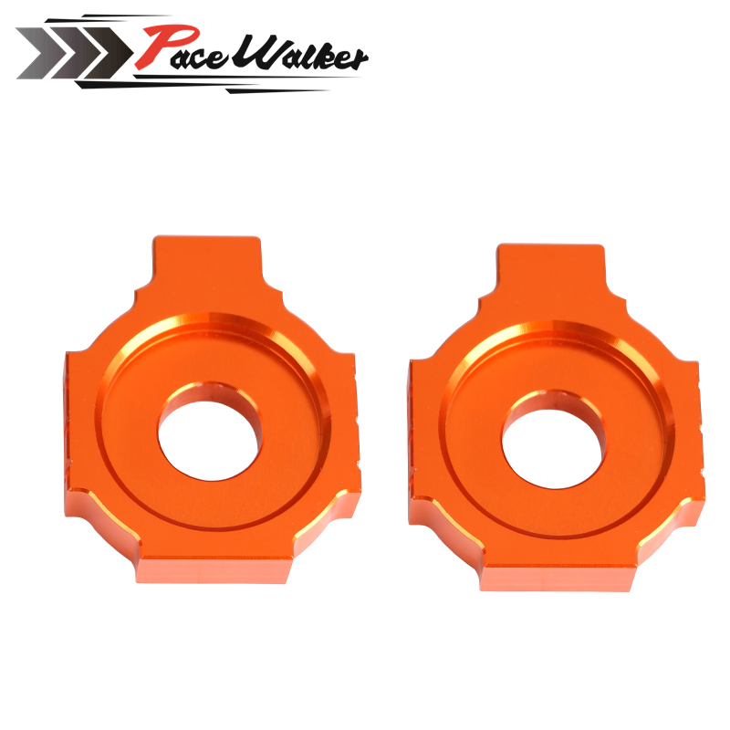 Motorcycle CNC Rear Axle Spindle Chain Adjuster Blocks for KTM DUKE 125/200/390 for ktm 390 duke motorcycle leather pillon rear passenger seat orange color
