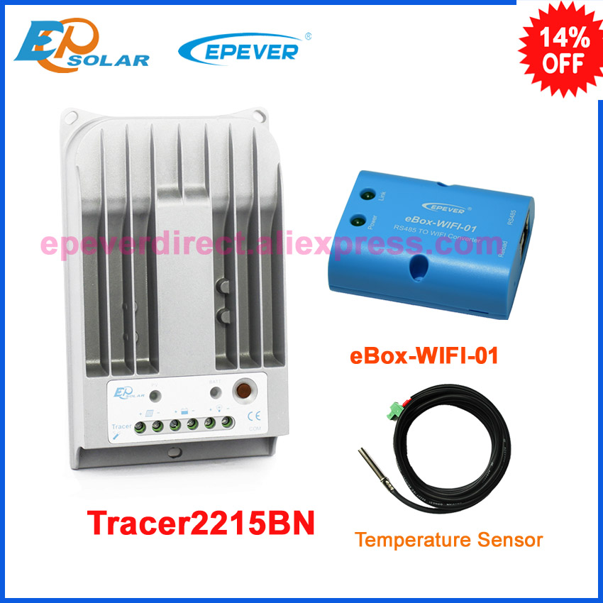 EPsolar MPPT solar tracer tracking controller 20A 20amp with sensor cable Tracer2215BN eBOX-WIFI-01 connect APP EPsolar MPPT solar tracer tracking controller 20A 20amp with sensor cable Tracer2215BN eBOX-WIFI-01 connect APP