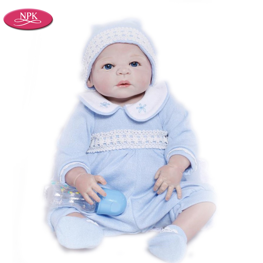 NPK Full Silicone Girl Reborn Doll Baby Lifelike Newborn Girl Babies ...