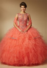 2016 New Scoop Sleeveless Quinceanera Qresses Luxury Beaded Vestidos De 15 Anos Back Lace Up Ball Gown Dress For 15 Years