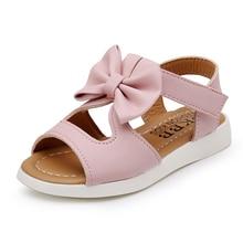 COZULMA Summer Girls Sandals Baby Kids Shoes Children Bowtie Beach Princess Dress Party PU Leather