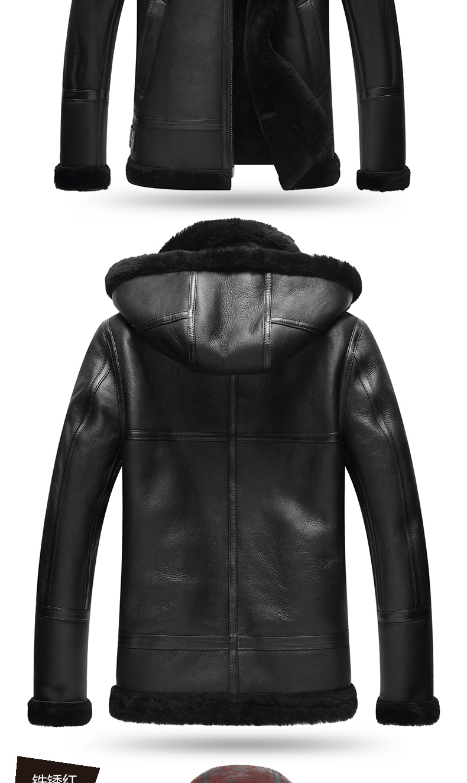 HTB10UivKr1YBuNjSszeq6yblFXa4 AYUNSUE Genuine Leather Jacket Men Winter Australian Natural Fur Real Sheepskin Coat for Men Lamb Fur Flight Men's Jackets KJ853