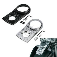 Motorcycle Chrome/Black Chrome Dash Panel Insert Cover For Harley Heritage Softail Springer Deluxe Fat Boy Dyna FXDWG FL FX