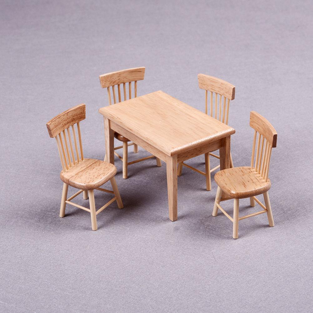 Hot 5Pcs font b Set b font Wooden Dining font b Chair b font font b