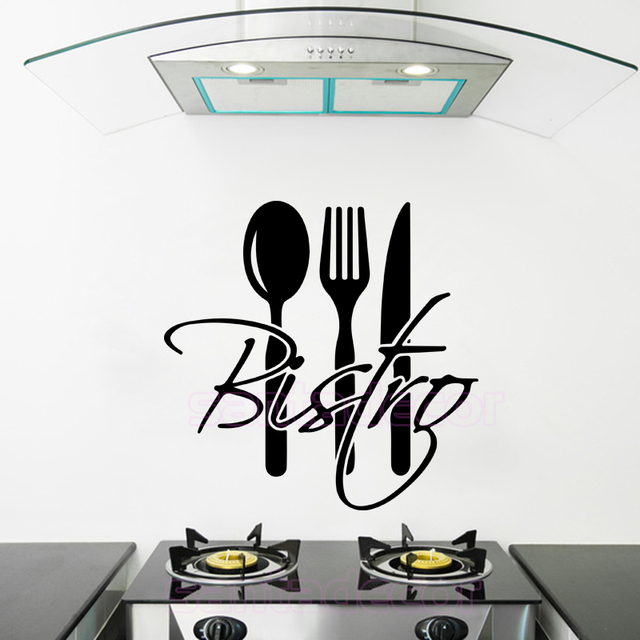 Stickers French Cuisine Bistro Vinyl Wall Sticker Decal Mural Wall ...
