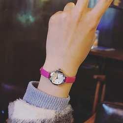 Женские Кварцевые аналоговые наручные маленький циферблат нежный часы Роскошные бизнес часы женские подарки Relogio Feminino Лидер продаж HK & 45