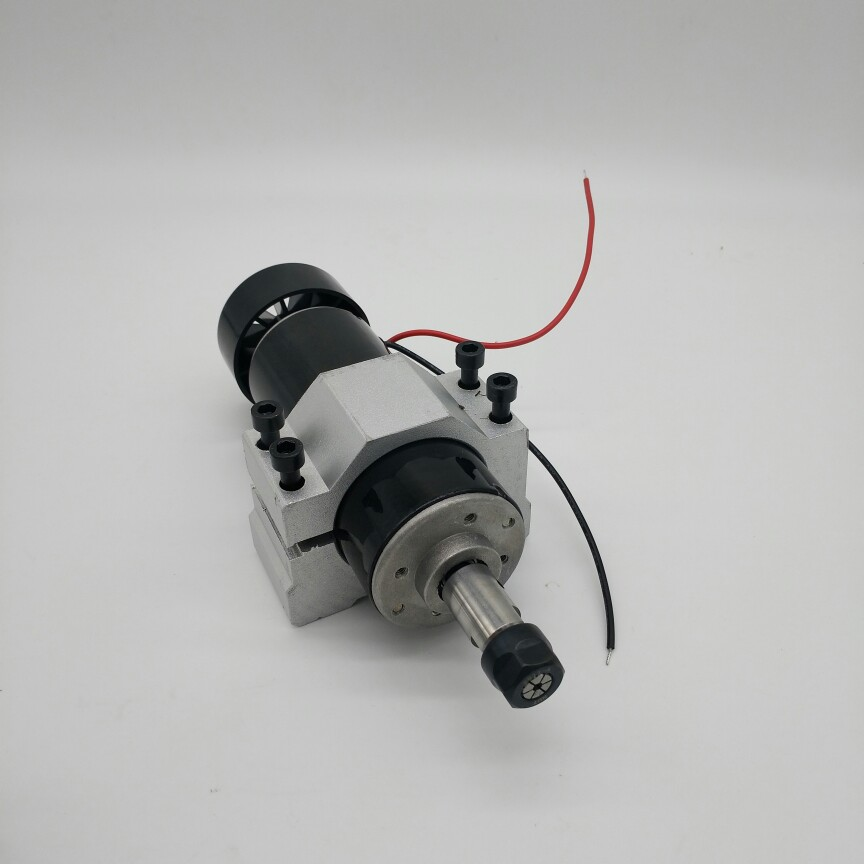 DIY engraving machine CNC spindle spindle ER11 DC 500W+Fixture 100 V 12000 rpm spindle motor DIY Spindle radial runout 0.01mm dc110v 500w er11 high speed brush with air cooling spindle motor with power fixed diy engraving machine spindle