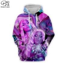 Nicki Minaj Hip-Hop singer 3d Hoodies Print Women/Men casual Cool Long Sleeve Sweatshirts Hooded Fashion unisex Clothes