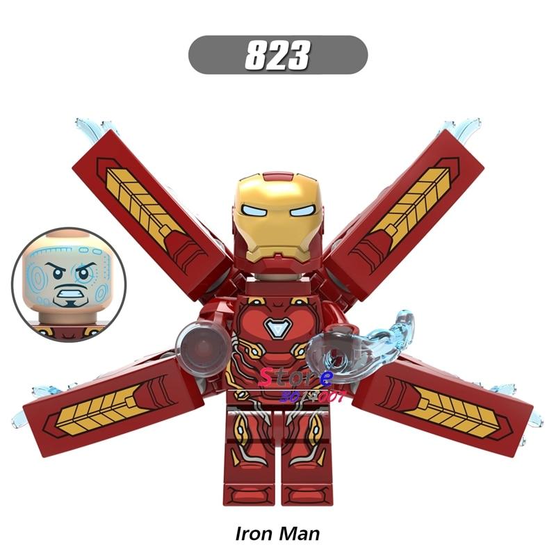 Single Marvel Avengers Iron Man Infinity War Armor collectable figure Mark50 Mark 50 building blocks bricks toys for children [bainily]511pcs superheroes space station iron man base attack on avengers tower model diy building blocks bricks toys
