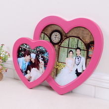 Modern minimalist photo frame wall European childrens heart-shaped creative