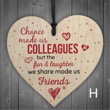 (Шанс сделает нас коллегами) деревянное сердце ремесло табличка