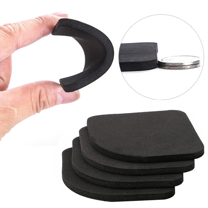 4 pcs Multifunctional Anti Vibration Mat For Refrigerator Washing Machine Pads vibration type pneumatic sanding machine rectangle grinding machine sand vibration machine polishing machine 70x100mm
