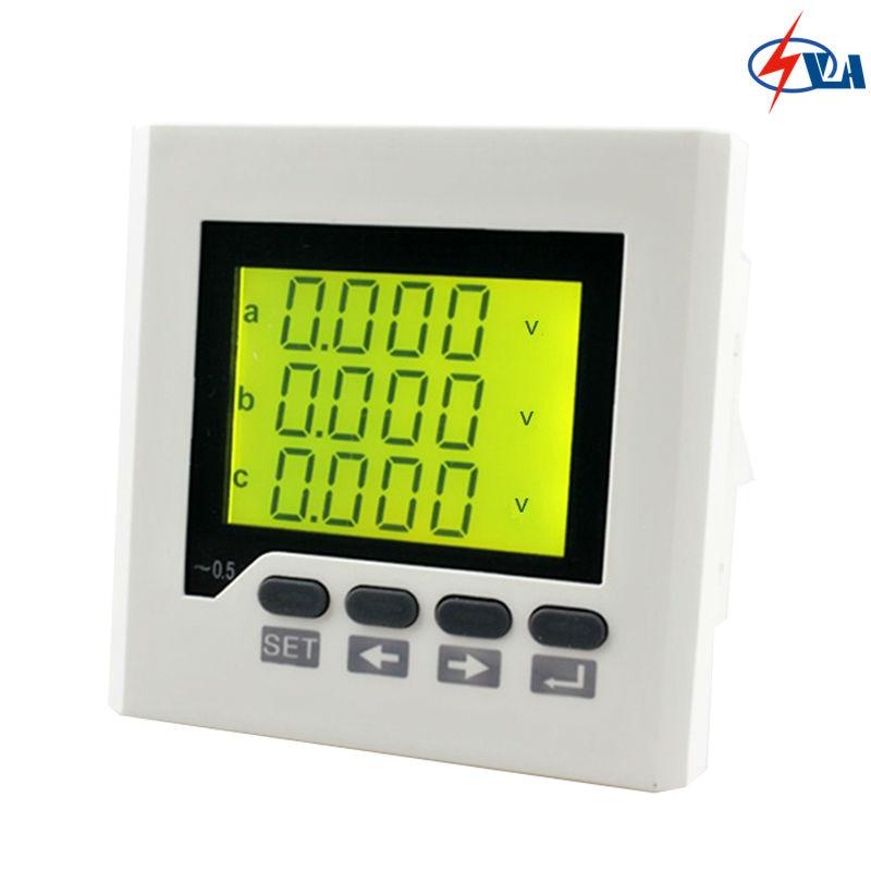 ФОТО 80*80mm 3-phase Programmable digital wholesale 3AV7Y voltage meter with LCD display
