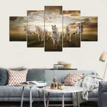 5 pcs High Quality Cheap Art Pictures Running Horse Large HD Modern Home Wall Decor Abstract Canvas Paintings