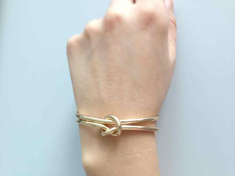 פשוט בעבודת יד חדש אופנה פתוח צמיד מתכוונן טרנדי תכשיטי שרוול צמידי & נשים רוק Bijoux