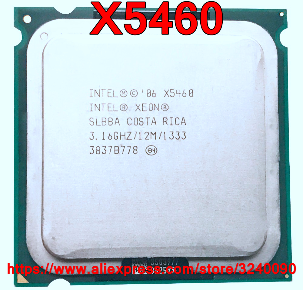 Original Intel CPU XEON X5460 Processor 3.16GHz/12M/1333 Quad-Core Works On LGA775 Close To Q9650 Free Shipping Speedy Ship Out