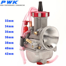 CNC PWK Carburetor 33 34 35 36 38 40 42mm Racing carb For Dirt Bike Scooters ATV UTV with Power Jet Used 125-600cc alconstar universal quad vent carb pwk 33 34 35 36 38 40 42mm pwk38 as s66 38mm air striker for keihin caeburetor