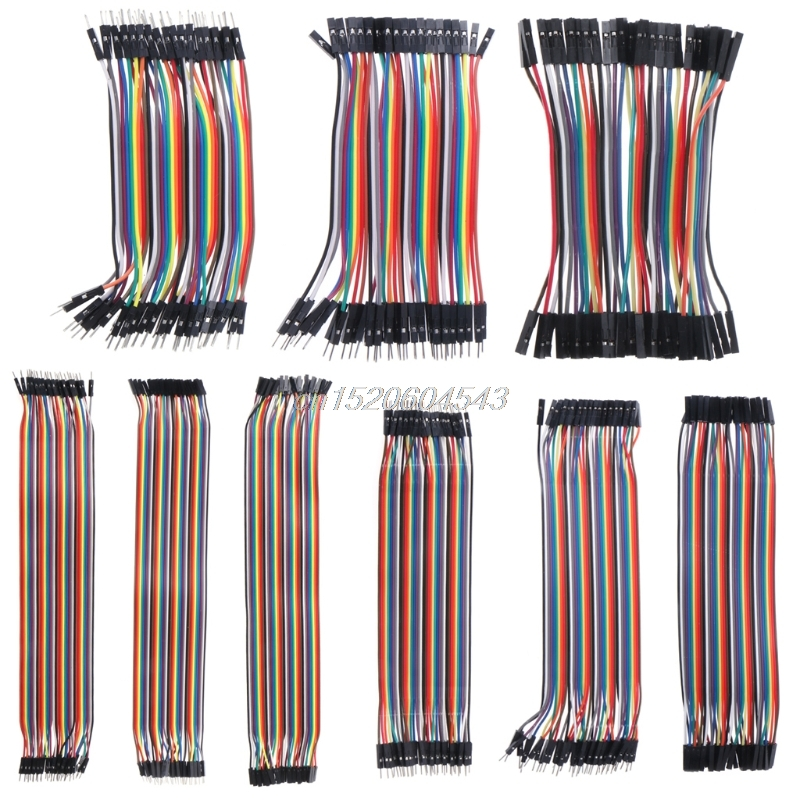 40pcs Dupont Line M-F/M-M/F-F Dupont Cable Jumper Wire Ribbon Cable for Arduino R07 Drop ship f
