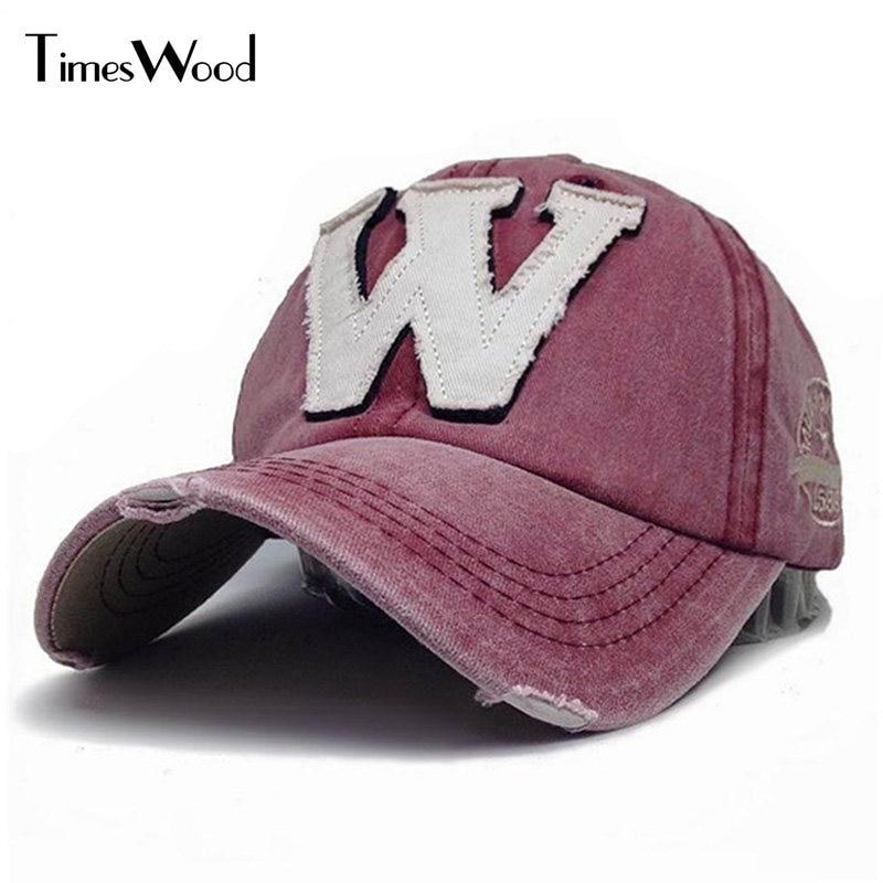 [TIMESWOOD] 6 Color Washed Denim Snapback Hats Autumn Summer Letter W New Men Women Baseball Cap Sunblock Beisbol Casquette Caps rosicil new letter hats gorros bonnets cocain