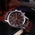NEW Fabulous Unisex Leather Stainless Steel Dial Quartz Wrist Watch kol saati wholesale SEP13