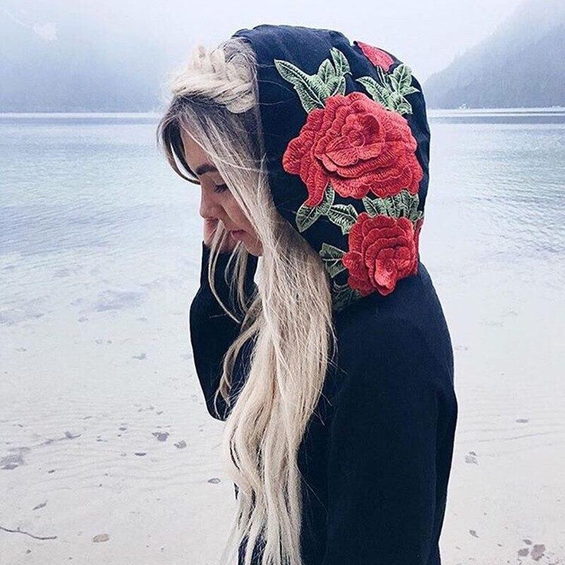 HTB10Ul0RVXXXXX7XVXXq6xXFXXXC - FREE SHIPPING Floral Black Women Sweatshirt Hoodie JKP221