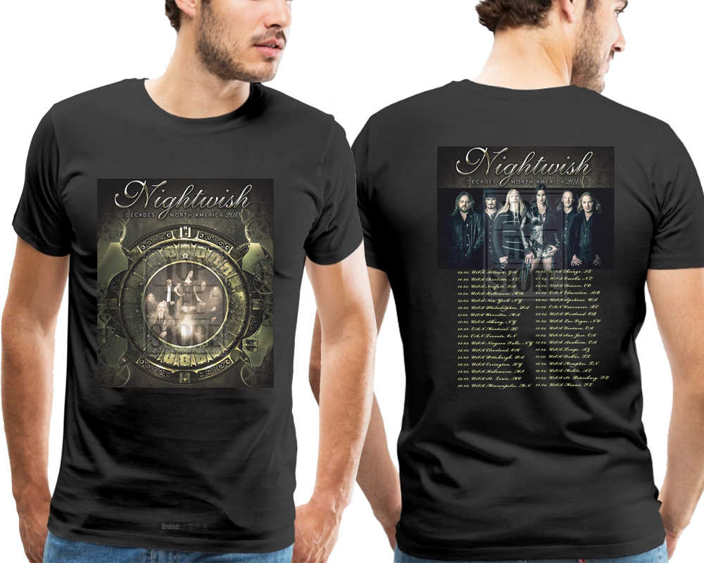 Nightwish Decades North American Tour 2018 T Shirt Size S To
