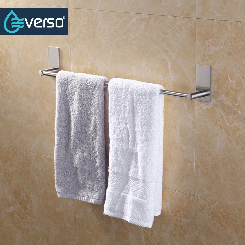Stainless Steel Bath Towel Holder Bathroom Towel Bar Kitchen Towel Polished Rack Holder Hardware Accessory Towel Racks 40/55CM