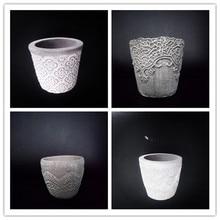 Creative Lace Flower Pot Making Concrete Molds Garden Decorating Cement Planter Silicone Mold цены