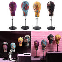 Adjustable Canvas Block Head Mannequin Head for Hair Extension Lace Wigs Making Styling and Scarf Display Manikin Head