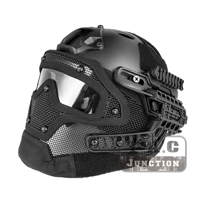 Здесь продается  Tactical Airsoft FAST PJ Advanced Adjustment Protective Multi-function G4 Full Facial Armor System Combat Helmet w/ Goggle Mask  Спорт и развлечения