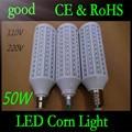 5 pcs E27 B22 E40 50 W 5730 SMD 165 LEVOU Chip de Milho luz AC110V/220 V Quente/Branco Lâmpada de Milho Lâmpada Home Indoor iluminação de rua Ao Ar Livre