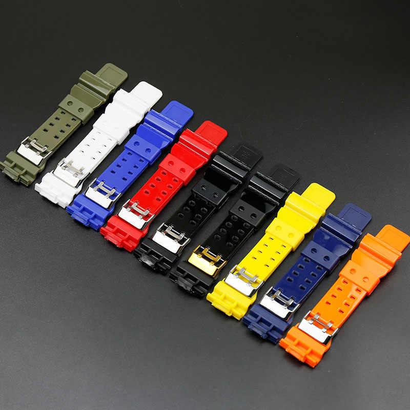 Żywica czarny złota, na ramiączkach dla Casio g-shock ga-100 ga-110ga-120 ga-200 ga-300 ga-400 gd-100 gd110 gd-120 gls-100 czarny błyszczący pasek