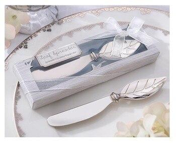 wedding favor gift and giveaways for guest -- New Butter knife arrival Chrome Leaf Spreader party keepsake 30pcs/lot