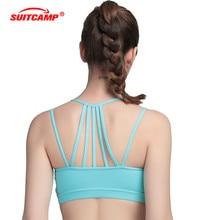 Sports Bra Women Underwear Yoga Bra Absorb Sweat Padded Push Up Stretch Vest Drying Seamless Sports Wear for Women Gym цена