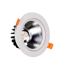 New Style 10w 15w White Round Shell Led Recessed Down Lights dimmable AC90-260V Warm Nature Cold White+ Drivers