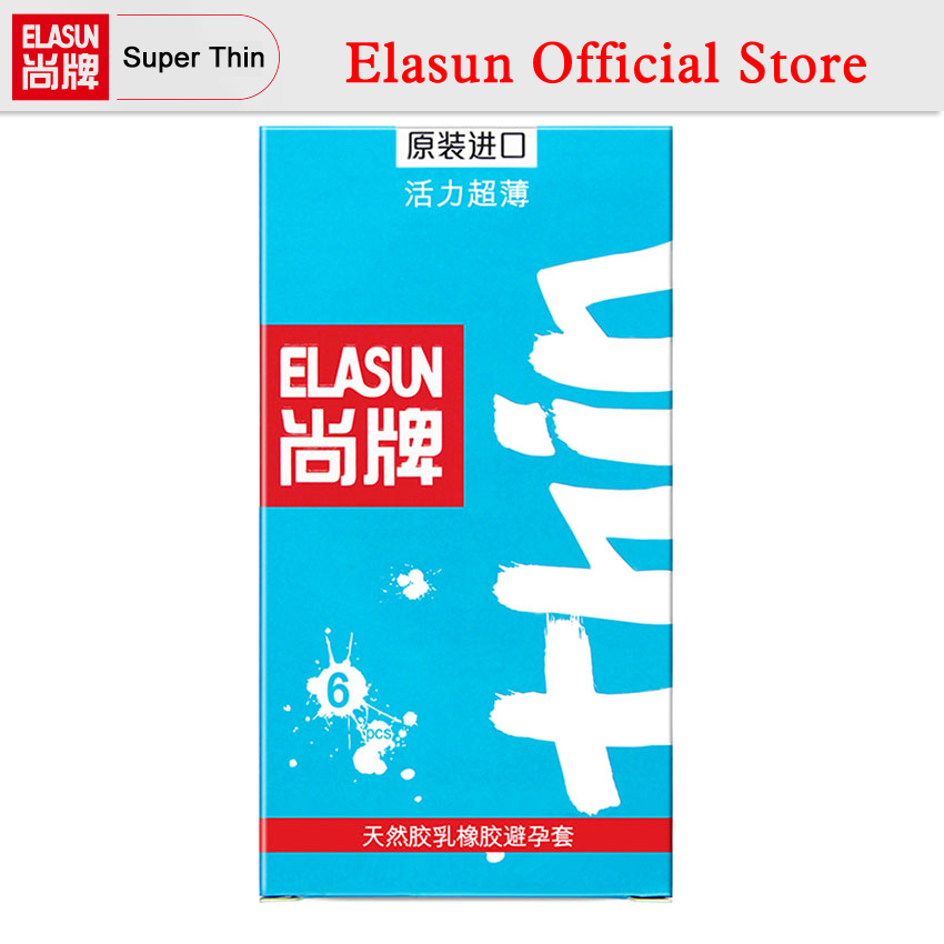ELASUN 6 PCS Vitality Super Thin More Intimate Lubricated Condoms Natural Latex Rubber Ultra Thin Condom все цены