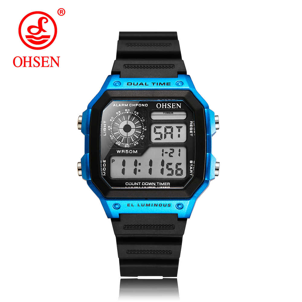 OHSEN Sports Watch Famous LED Digital Watches Male Clocks Men's Watch Relojes Deportivos Herren Uhren Reloj Hombre Montre Homme