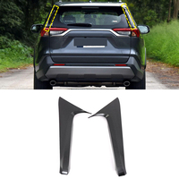 Car Accessories Rear Window Spoiler Side Corner Strip Trim ABS Carbon Style 2PCS for Toyota RAV4 XA50 2019+