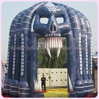 Бесплатная доставка Лидер продаж череп арки Хэллоуин надувные наружной отделки